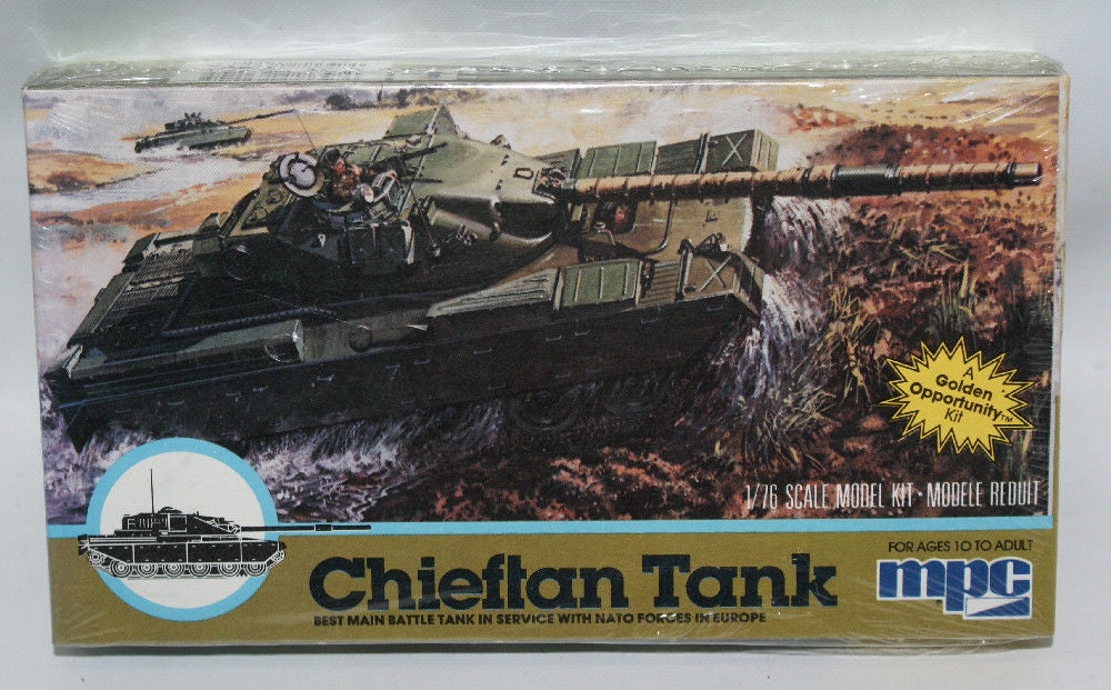 MPC Vintage 1:76 Scale CHIEFTAN Military Tank Model Kit #1-6204, Sealed! - Continental Hobby House