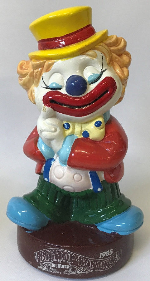 Vintage 1985 Del Monte 'Big Top Bonanza' Promotional Clown Coin Savings Bank - Continental Hobby House