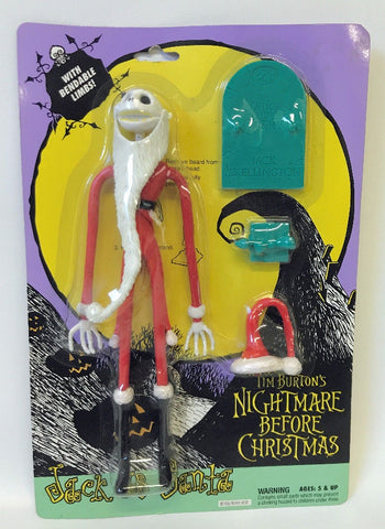 Vintage 1993 NIGHTMARE BEFORE CHRISTMAS 'Jack as Santa' Action Figure, SEALED