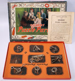 RARE Vintage 1921 A.C. GILBERT PUZZLE PARTIES Playset in Original Box - Continental Hobby House