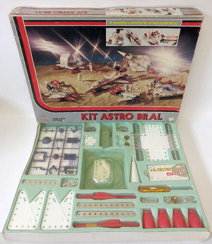 1960's BRAL Italy 90050 KIT ASTRO BRAL Spaceship Space Construction Erector Set