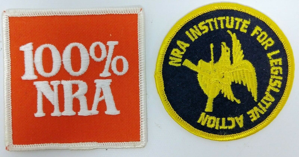 "Pair of Vintage NRA Iron-On or Stitch-On Patches - ""100% NRA"" & ""NRA Institute"" - Continental Hobby House"