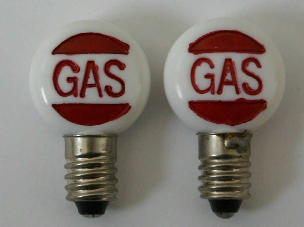 2 Replacement Embossed Bulb Globes for Vintage Marx Service Gas Filling Station - Continental Hobby House