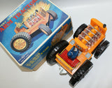 Vintage Battery Op FARM TRACTOR Toy with Light-up Pistons, Horikawa (SH), Japan - Continental Hobby House