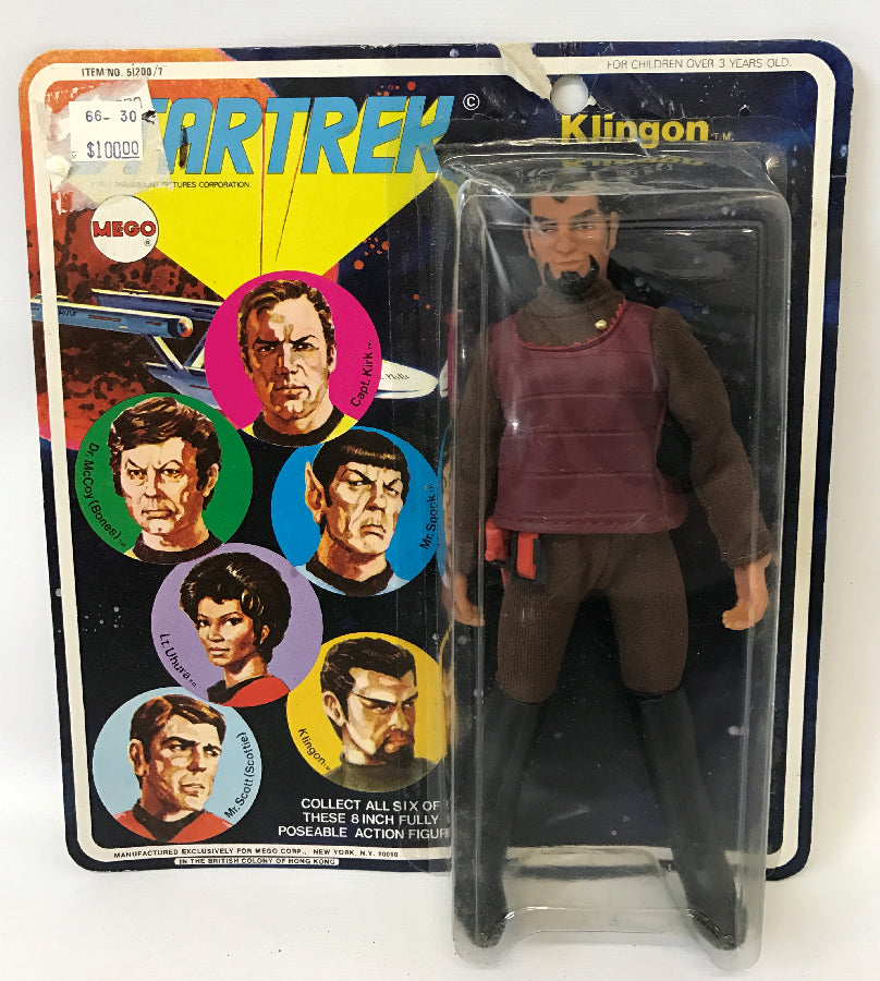 "Vintage 1974 MEGO Star Trek KLINGON 8"" Poseable Action Figure #51200/7, SEALED! - Continental Hobby House"