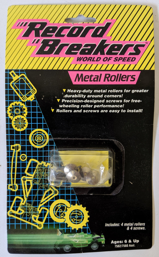 Vintage 1989 'Record Breakers - World of Speed' Replacement Metal Rollers SEALED - Continental Hobby House