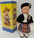 Vintage 1940's DBGM Western Germany Celluloid Windup DANCING DOLL #9609 Toy - Continental Hobby House