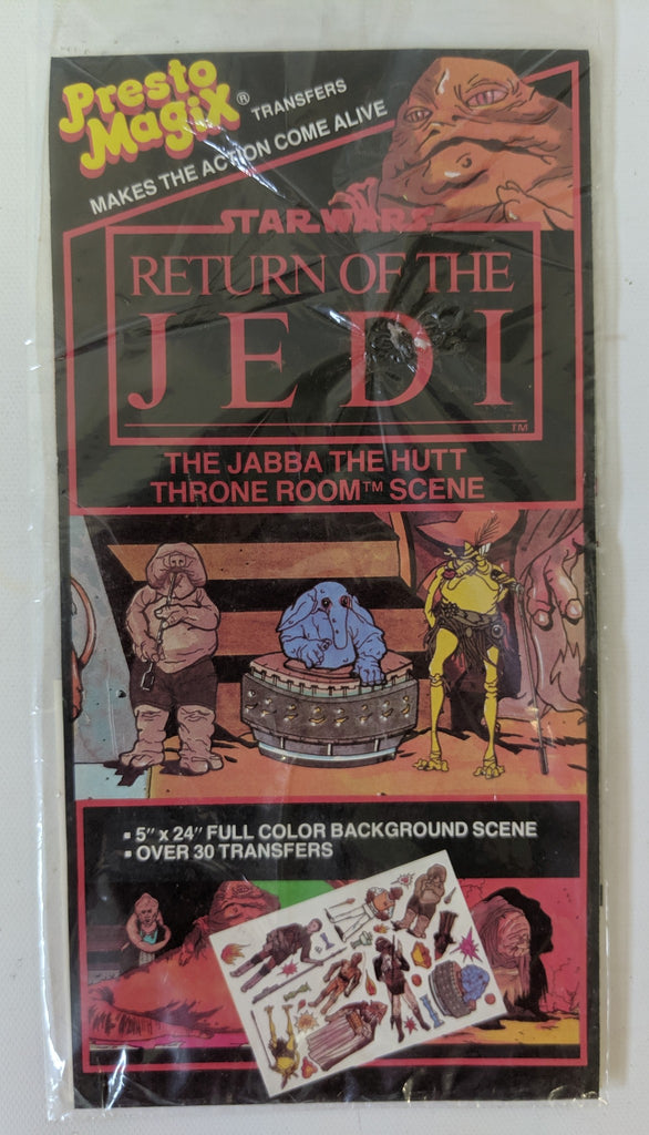 STAR WARS Return of the Jedi Jabba the Hutt Throne PRESTO MAGIX Transfers SEALED - Continental Hobby House