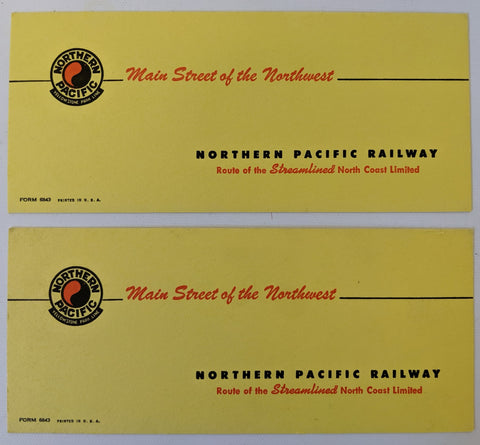 Pair of ORIGINAL 1940's Vintage NORTHERN PACIFIC RAILWAY Unused Ink Blotters NEW