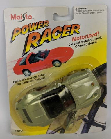 Vintage 1994 MAISTO Power Racer Diecast Motorized PORSCHE 911 SPEEDSTER Toy Car