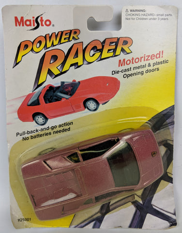 Vintage 1994 MAISTO 'Power Racer' Diecast Motorized LAMBORGHINI DIABLO Toy Car!