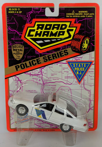 Vintage 1995 ROAD CHAMPS Police Series 1:43 Diecast NEW JERSEY State Toy Car