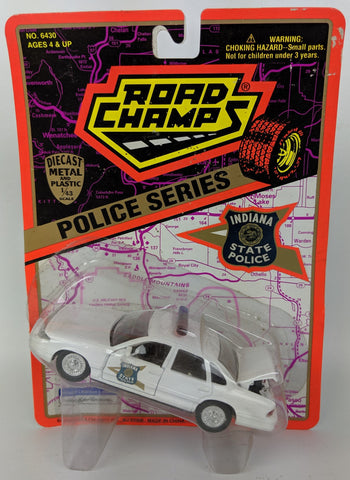 Vintage 1995 ROAD CHAMPS Police Series 1:43 Diecast INDIANA State Patrol Toy Car