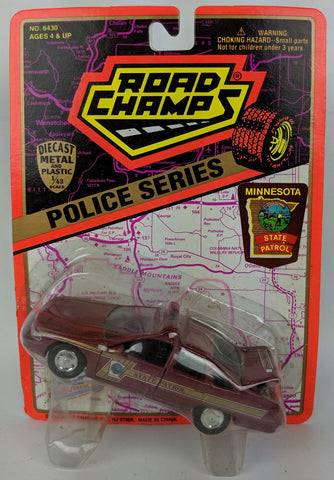 1995 ROAD CHAMPS 'Police Series' 1:43 Diecast MINNESOTA State Patrol Toy Car