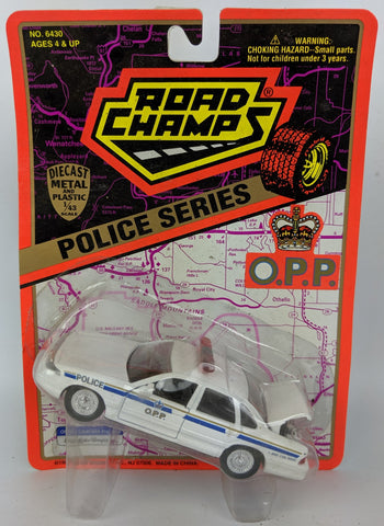 Vintage 1995 ROAD CHAMPS 'Police Series' 1:43 Diecast O.P.P. ONTARIO Toy Car