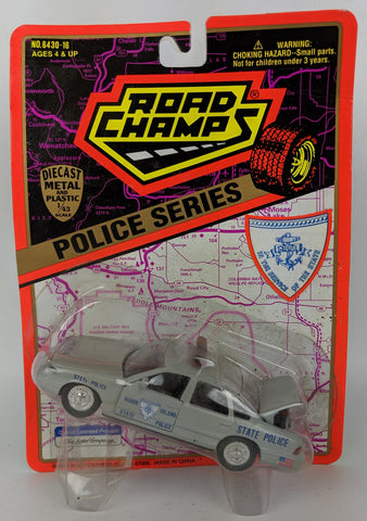 1995 ROAD CHAMPS 'Police Series' 1:43 Diecast RHODE ISLAND State Patrol Toy Car
