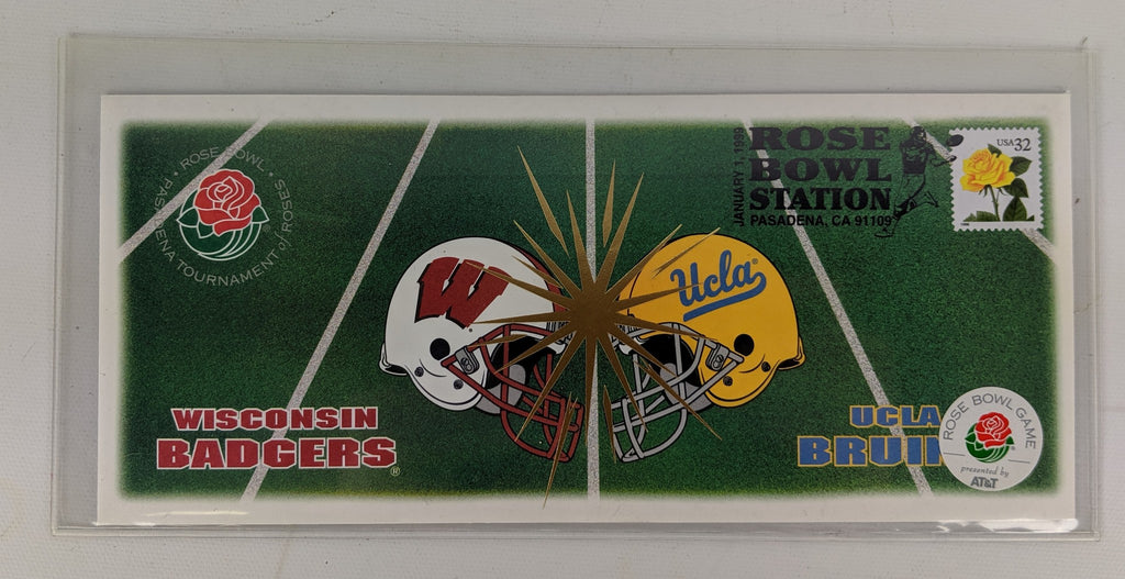 Wisconsin Badgers Memorabilia  1999 Rose Bowl First Day Cover. Badger Fan Gift. - Continental Hobby House