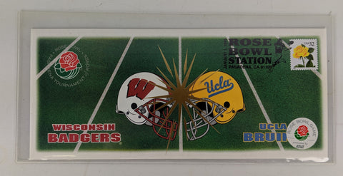 Wisconsin Badgers Memorabilia  1999 Rose Bowl First Day Cover. Badger Fan Gift.