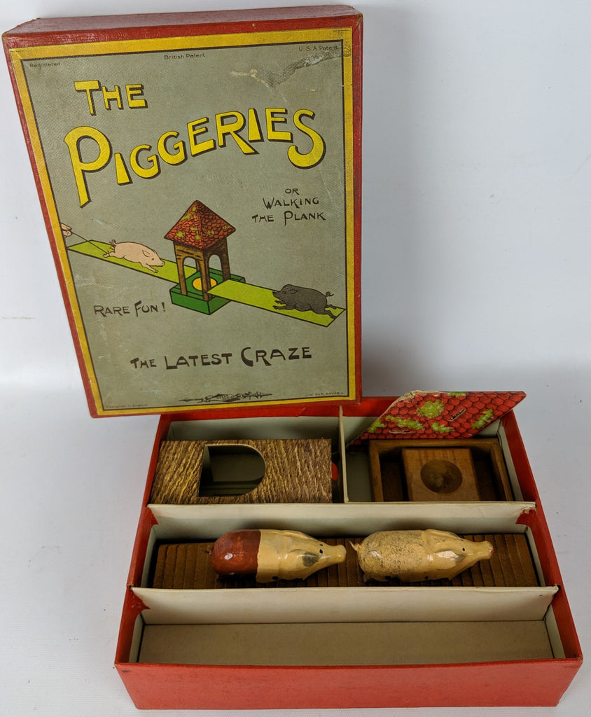 EXTREMELY RARE Vintage 1907 THE PIGGERIES Game by J.W. S&S Bavaria, England - Continental Hobby House