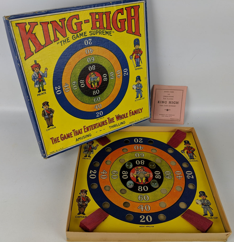 "RARE Vintage 1930's KING-HIGH ""The Game Supreme"" Family Game by Rosebud Art - Continental Hobby House"