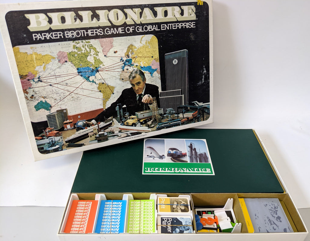 Vintage 1973 BILLIONAIRE Golden Enterprise Board Game by Parker Brothers - Continental Hobby House