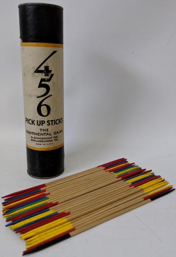 Vintage 1930's 4-5-6 PICK UP STICKS, The Continental Game by Schoenhut Co.