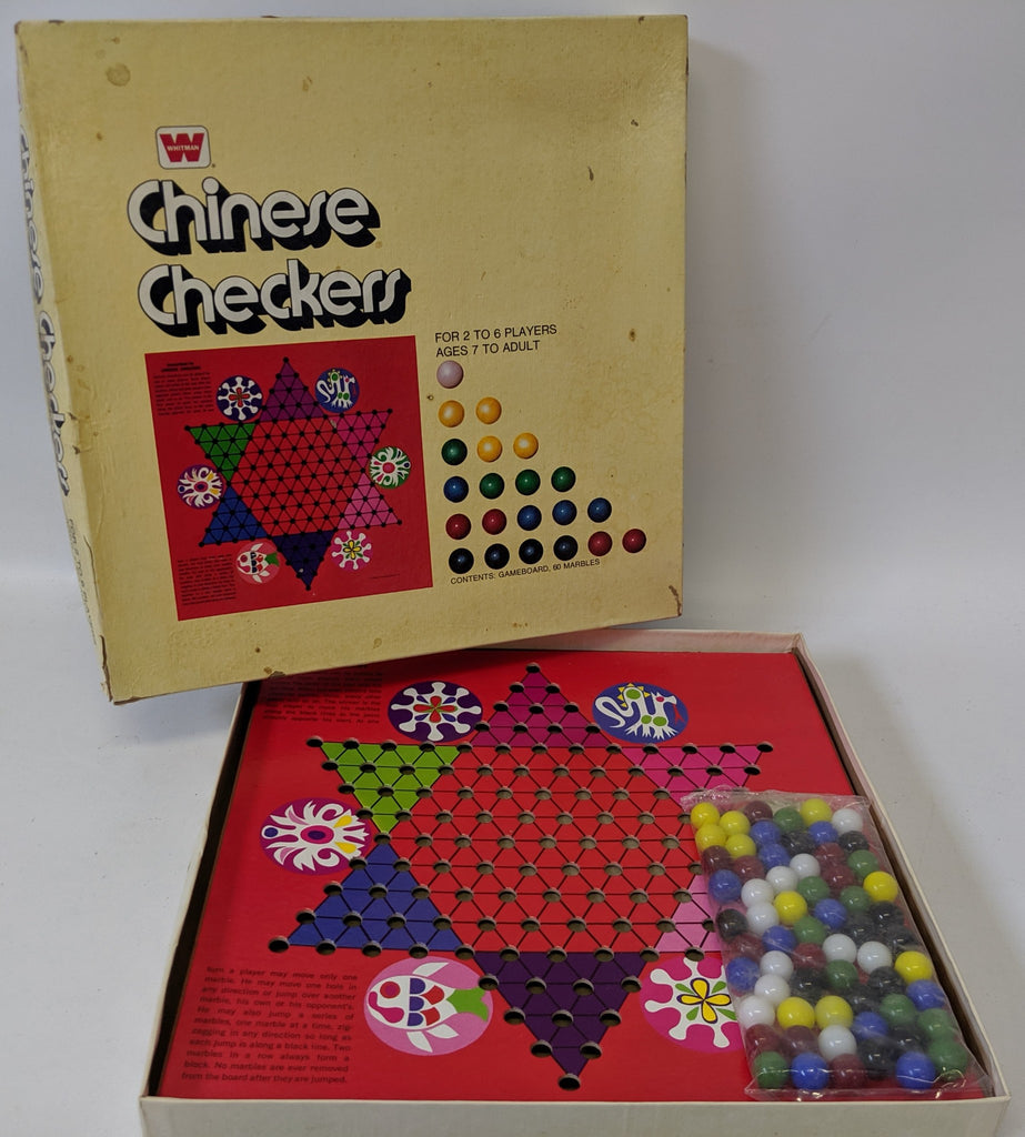 Vintage 1974 Chinese Checkers by Whitman Publishing, a fun classic game! - Continental Hobby House