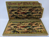 *RARE* Vintage Jan. 28, 1890 GAME OF FISH POND Victorian Game in Original Box - Continental Hobby House