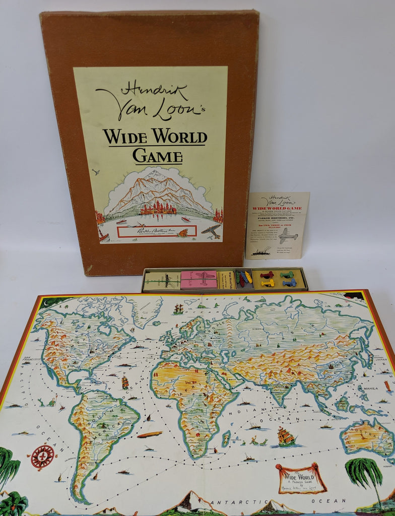 Vintage 1933 Hendrik Willem Van Loon's WIDE WORLD Board Game, Parker Brothers - Continental Hobby House