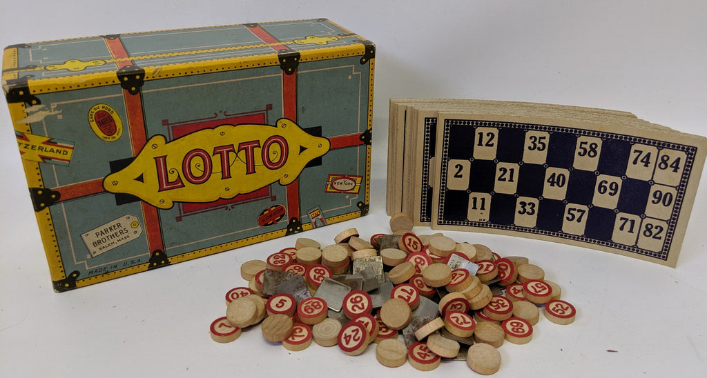 Vintage LOTTO Travel Trunk Version Game by Parker Brothers, fun classic game! - Continental Hobby House