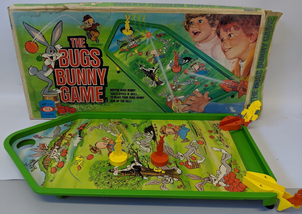 Vintage 1975 Ideal BUGS BUNNY Warner Brothers Arcade Style Marbles Game - Continental Hobby House