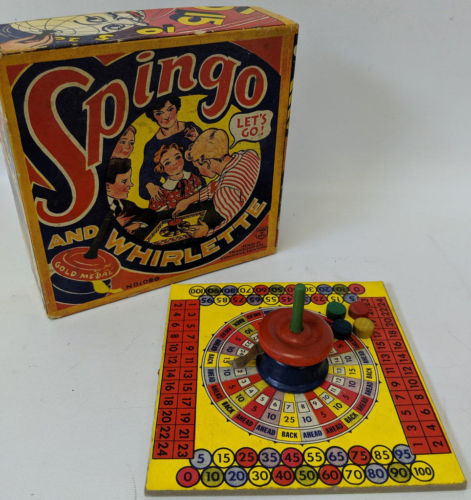 RARE Vintage 1930'S Game of SPINGO AND WHIRLETTE by Transogram, fun game! - Continental Hobby House