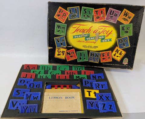 ULTRA RARE Vintage TEACH-A-TOY Teaching Aid Game Set by Hasbro / Hassenfeld