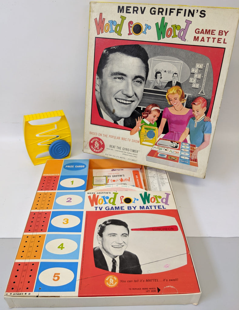 Vintage 1963 Merv Griffin's WORD FOR WORD Board Game by Mattel, fun game! - Continental Hobby House