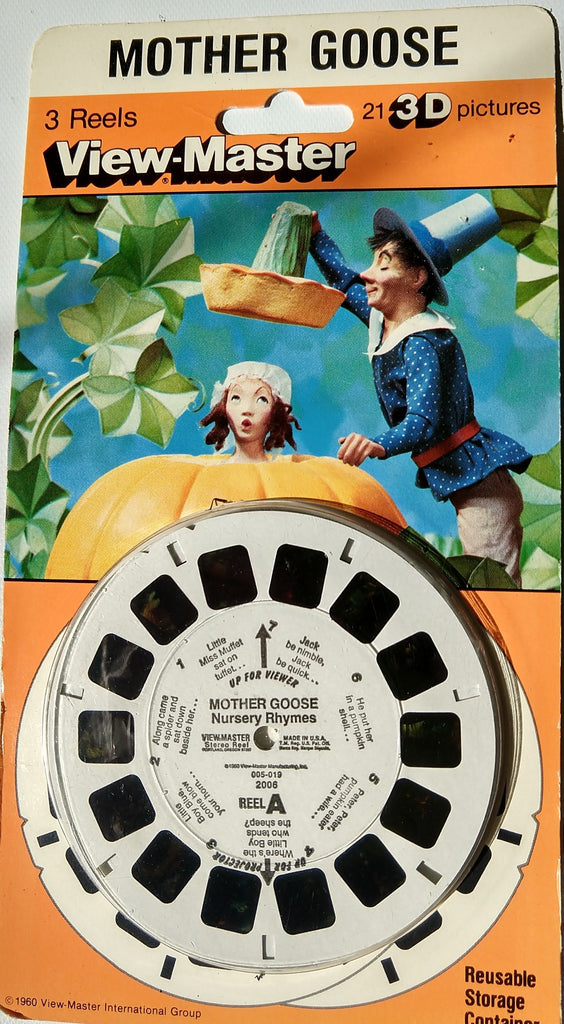 Vintage View Master 1960 Mother Goose with 3 Reels. Sealed, unused - Continental Hobby House
