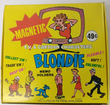 "1974 Blondie Magnetic Memo Holder Display box. 9x9"" - Continental Hobby House"