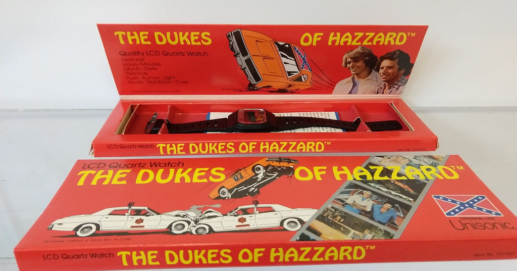 1981 DUKES OF HAZZARD WATCH in box and collectors sleeve. - Continental Hobby House