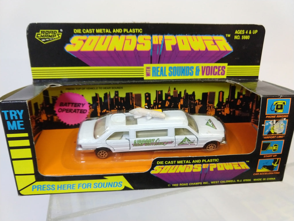 "Road Champs Sounds of Power Airport Limo 5"" - Continental Hobby House"