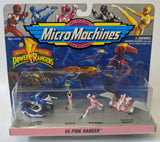 Vintage 1994 Galoob POWER RANGERS Micro Machines #5 Pink Ranger Figure Playset