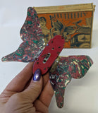 ULTRA RARE Vintage 1929 MARX Tin Litho & Celluloid 'FLUTTERFLY' Butterfly in Box