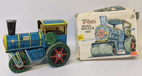 Retro 1990's (Kovap, Czech Republic) Tin 1927 ROAD ROLLER Steam Tractor Toy