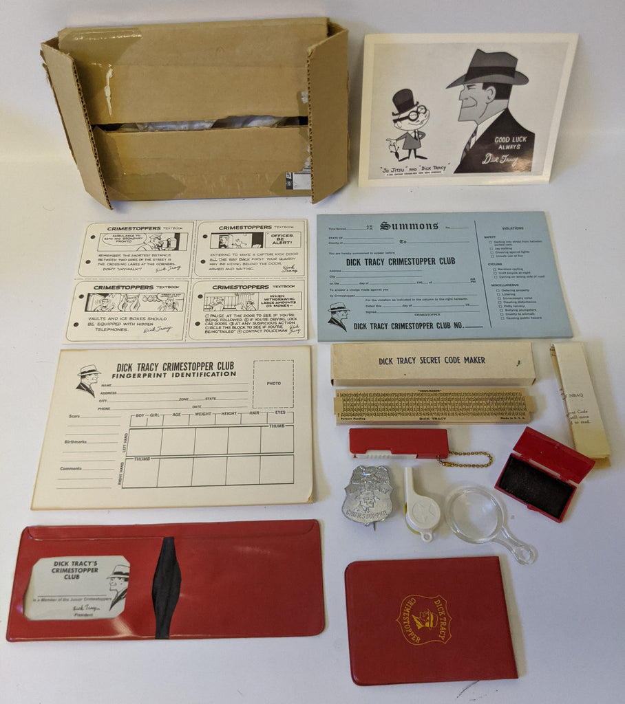 Vintage 1961 DICK TRACY CRIMESTOPER CLUB Kit Mail Order Premium Promo Set