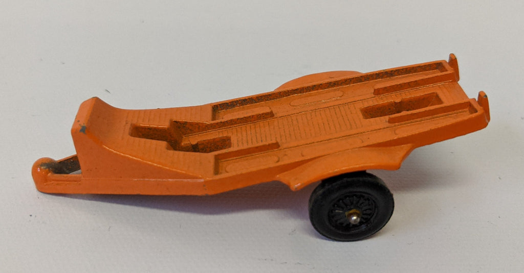 Vintage TOOTSIETOY Diecast Orange #2 MOTORCYCLE TRAILER for Single Motorcycle