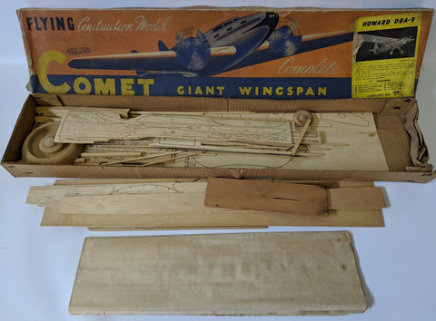 RARE Vintage 1941 COMET Model Kit #T1 'HOWARD DGA-9' 1:9 Airplane Model Kit