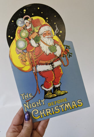 Vintage 1999 THE NIGHT BEFORE CHRISTMAS Santa Claus Story Book, Shackman Publ.