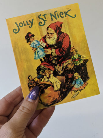 Replica Children's Story Book of the Christmas Classic JOLLY ST. NICK Santa Book