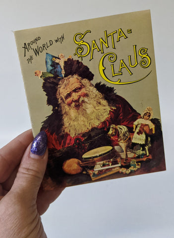 Replica of the Christmas Classic 'AROUND THE WORLD WITH SANTA CLAUS' Book
