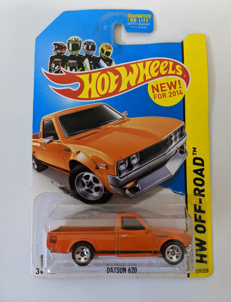 2014 HOT WHEELS 1:64 'DATSUN 620' HW Off-Road Orange Toy Pickup Truck 139/250