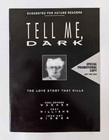 1992 DC Comics TELL ME DARK Love Story That Kills Promo Horror Comic Book