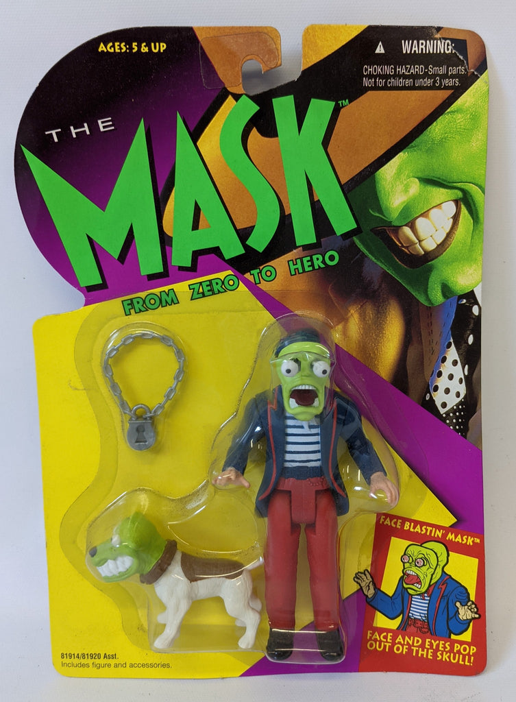 1994 Hasbro THE MASK Zero to Hero FACE BLASTIN' MASK Action Figure 81914 SEALED!